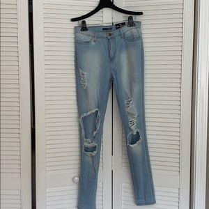 Fashion Nova Beach Bum Ripped Jeans